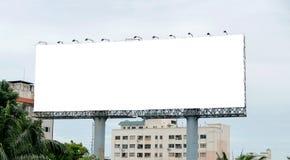 与空的屏幕的广告牌 图库摄影