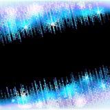 与空的空间的迪斯科聚会霓虹亮光马赛克框架文本的,明亮的传染媒介马赛克背景 图库摄影