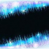 与空的空间的霓虹迪斯科聚会亮光框架文本的,传染媒介马赛克背景 免版税库存照片