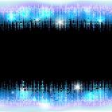 与空的空间的霓虹迪斯科聚会亮光框架文本的 库存图片