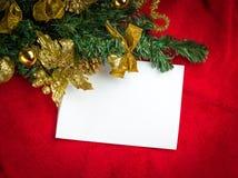 与空间和圣诞节装饰的圣诞卡 免版税库存照片