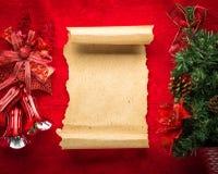 与空间和圣诞节装饰的圣诞卡 库存照片