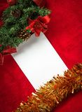 与空间和圣诞节装饰的圣诞卡 免版税库存图片