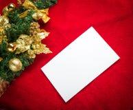 与空间和圣诞节装饰的圣诞卡 库存图片