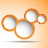 与空间的橙色泡影文本的 库存图片