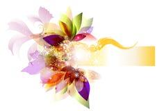 与空间的清楚的花背景文本的 库存图片