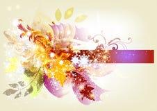 与空间的花卉季节性设计文本的 图库摄影