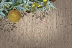 与空间的难看的东西木圣诞节边界设计文本的 库存照片