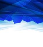 与空间的典雅的几何蓝色背景设计您的文本的 库存图片