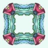 与空间的方形的五颜六色的乱画框架文本的 库存例证