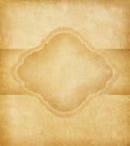 与空间的老纸张文本的 免版税库存照片