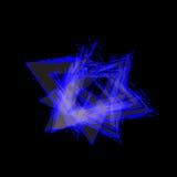与空间的蓝色三角背景传染媒介文本的和消息盖子设计 库存照片