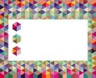 与立方体的五颜六色的背景 免版税库存图片