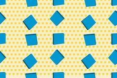 与立方体的传染媒介无缝的纹理 现代的背景 向量例证
