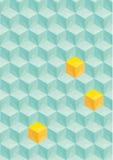 与立方体的抽象三角背景 库存图片