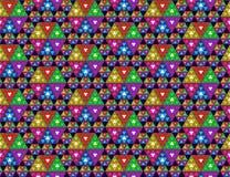 与立方体的抽象无缝的样式 免版税库存图片