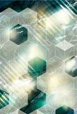 与立方体覆盖物的抽象背景 库存图片