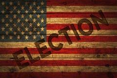 与竞选文本的美国国旗 图库摄影