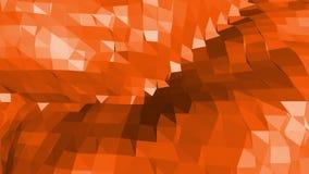 与端点,在动画片现代3D的钉的多角形马赛克背景设计 抽象变换的橙色低多 库存例证