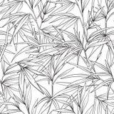 与竹子的无缝的样式在日本式 外形图 库存例证