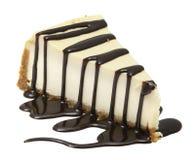 与笔包括的裁减路线的乳酪蛋糕 库存照片