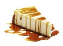 与笔包括的裁减路线的乳酪蛋糕 库存图片