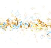 与笔记的白色音乐背景 皇族释放例证