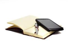 与笔p的笔记薄 免版税库存图片
