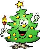 与符合的圣诞树 免版税库存照片