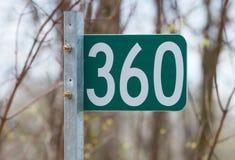 与第360的标志 库存图片
