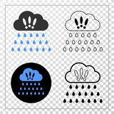 与等高版本的强的雨云传染媒介EPS象 免版税库存图片