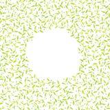 与等高绿色和黄色叶子的框架 图库摄影