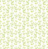 与等高绿色和黄色叶子的背景 库存图片