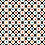 与简单的几何装饰品的无缝的样式 重复的正方形抽象背景 当代表面纹理 免版税库存照片