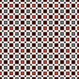 与简单的几何装饰品的无缝的样式 重复的正方形抽象背景 当代表面纹理 图库摄影