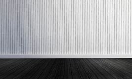 与简单的样式3d翻译的白色木墙壁背景 库存照片