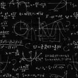 与算术惯例的无缝的在黑色的背景和图表 库存例证
