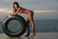 与管的泰国比基尼泳装设计 库存照片