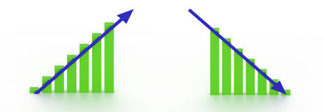 与箭头的上升的和落的图 向量例证