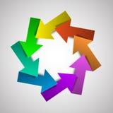 与箭头的传染媒介五颜六色的生命周期图 免版税库存图片