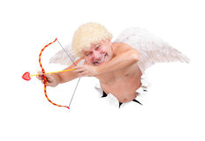 与箭头的天使 图库摄影