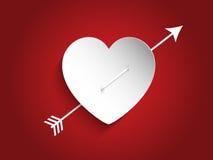 与箭头的心脏设计 免版税库存图片