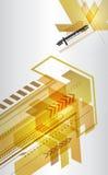 与箭头的抽象techno设计。 免版税库存图片