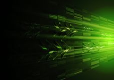 与箭头的技术绿色行动设计 免版税库存图片