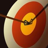 与箭头的目标 免版税库存图片