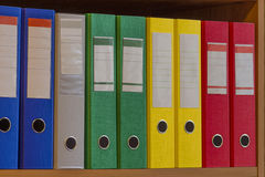 与箱子的办公室文件夹 免版税库存图片