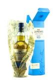 与箱子的Glenlivet苏格兰威士忌酒 库存照片
