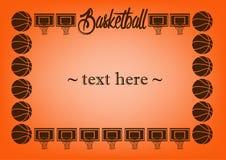 与篮球的框架 库存图片