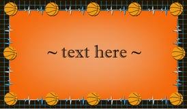 与篮球的框架 向量例证