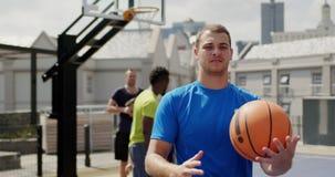 与篮球4k的篮球运动员身分 股票录像